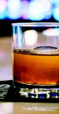 Bulleit Rye and Disaronno Amaretto star in this libation, served in a chilled flask.