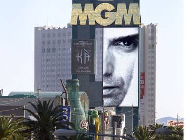 "MGM Grand just finished refurbishing its 254-foot-tall, 94-foot-wide sign on Las Vegas Boulevard, retrofitting the big ""MGM"" letters with more than 13,000 custom-made LED pucks and replacing the massive video screens with LED displays. But this is only the second-largest vertical LED display on the Strip ..."
