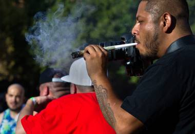 "If you want to see a stampede, yell ""Free vape kits!"" at a weed festival."