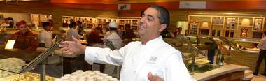 The empire-building chef and restaurateur just opened his new classic French brasserie at Aria.
