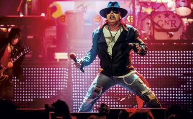 Axl Rose, Slash and Duff McKagan kick off touring April 8 and 9 and T-Mobile Arena.