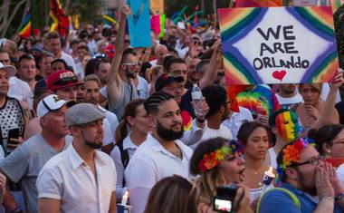 "The local LGBT community and its allies defy Vegas stereotypes and peacefully assemble in the name of brotherhood, visibility and ""more love less hate."""