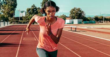 She landed a contract with Nike before even getting her high school diploma.