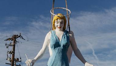 Betty Willis' motel angel—and Downtown's unofficial patron saint—is getting some long-overdue care.