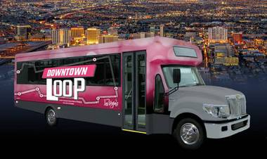 The Loop will circle five major tourist destinations—North Premium Outlets, Plaza Hotel, Mob Museum, Fremont East and Pawn Plaza—along with the Bonneville Transit Center.