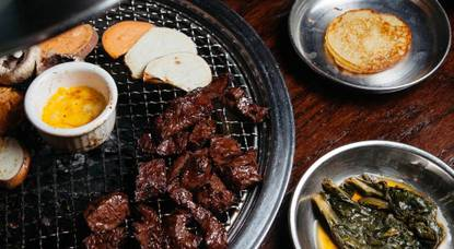 Marinated skirt steak is just one meaty option at Hobak.