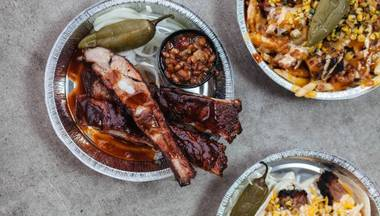 The ribs are rich and smoky, and the brisket is just fatty enough, moist and tender with a thin layer of savory bark.