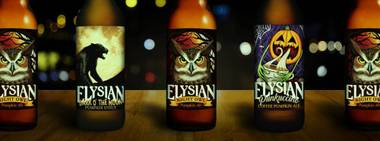 Elysian's special offerings include the Night Owl ale, made with seven pounds of pumpkin per barrel.