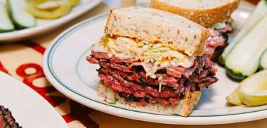 I have a hard time deviating from pastrami, but there are soups, bagel platters, burgers and other entrées.