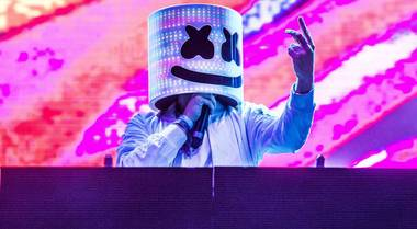 The happy, helmeted DJ plays XS and Encore Beach Club July 14 and 15.