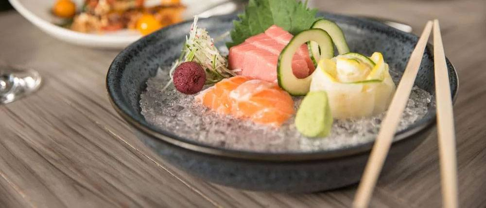 The menu mostly comprises shareable plates, except for a few truly grand entrées. Our server recommend eating in a specific order: from cold to hot, mild to spicy. That means you can expect to taste the ceviche and sushi (by chef Kiyotaka Jet Asano) first.
