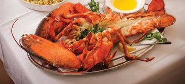 For a couple of months each summer, the family-owned steakhouse serves up its legendary feast of jumbo Nova Scotia lobster.