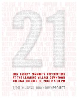 21: UNLV Faculty Community Presentations