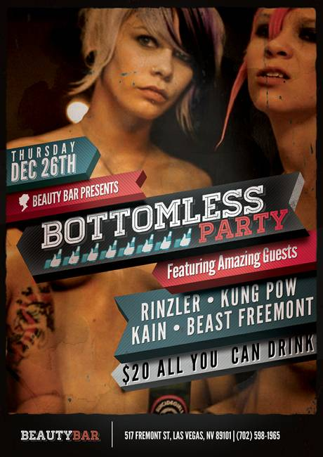 Beauty Bar Bottomless Party