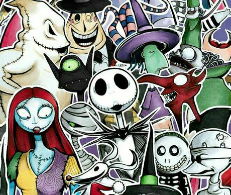 nightmare before christmas group art show