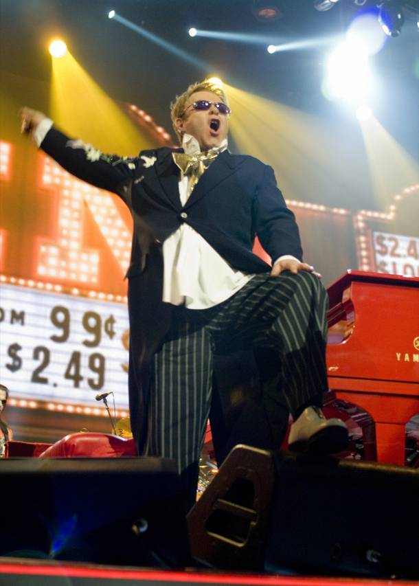 Elton John celebrates 200 shows at the Colosseum at Caesars Palace this weekend.