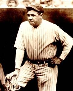 Vintage photos of such immortals as Babe Ruth will be shown at Sports Immortals.