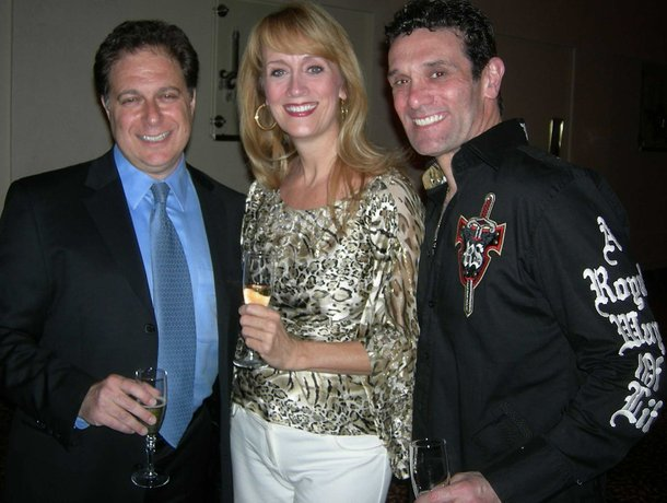 Scott Zieger, Tina Walsh and Anthony Crivello celebrate Phantom's second anniversary at The Venetian in June 2008.