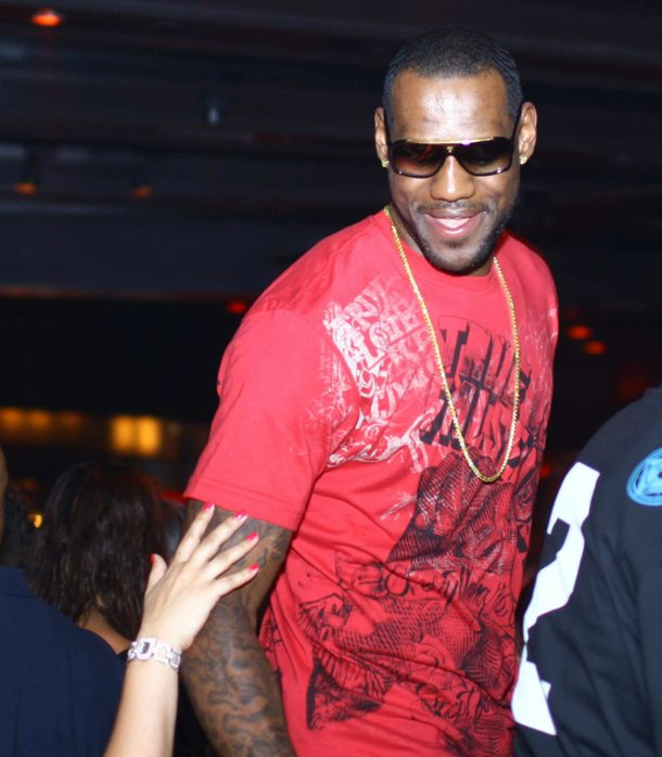 LeBron James, principal at Cool School, which on this night is Tryst.