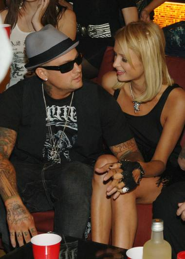 A relationship in full bloom: Benji Madden, Paris Hilton and this blog.