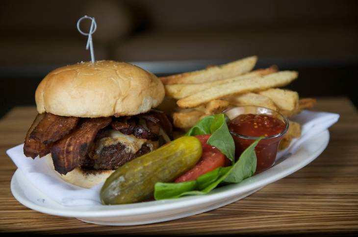Don't let the word steakhouse fool you. According to chef Barry Dakake this burger is the best deal on the menu.