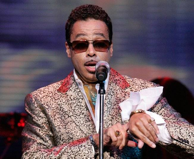 "Morris Day, asking the rhetorical question, ""What time is it?"""