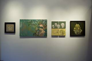 An installation of Incubus frontman Brandon Boyd's artwork.