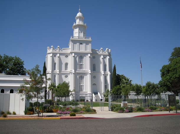 The Mormon temple in St. George.