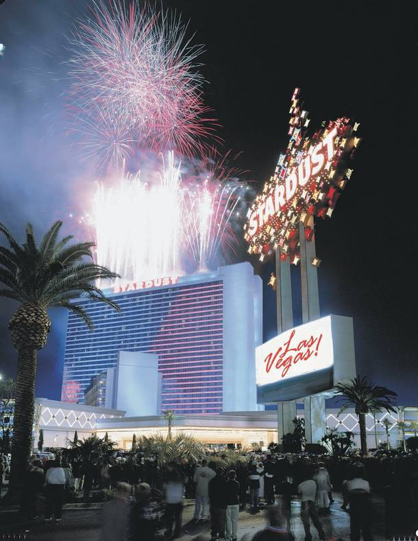 The Stardust no longer exists, but this photo of fireworks booming above the hotel will live in perpetuity.