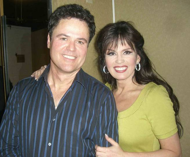 Exclusive interview marie osmonds incredible 20 hour work day donnie marie backstage at the flamingo m4hsunfo