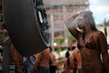 Las Vegas is known for its glittering lights, expansive entertainment and luxurious casinos. According to deodorant maker Old Spice, it's also making a name for itself in pit stains.