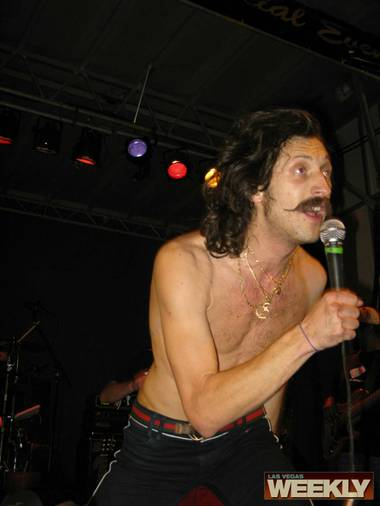 The clothing came off quickly at the Gogol Bordello show.