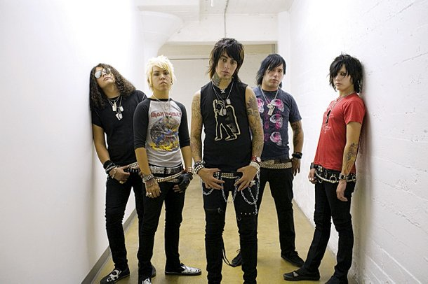 Ronnie Radke with Escape the Fate in better days.