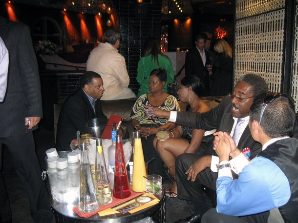 Plenty of drinking and socializing, but little attention on the election at The Executive Suite at Lavo.