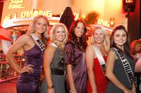 Miss Nevada 2009 contestants gather outside Hawaiian Tropic Zone for a meet and greet.