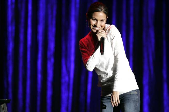 MADtv alum Anjelah Johnson took the stage at TCF as part of the Saturday night Caliente Comedy show.