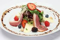Roasted duck and berry salad by Rosemary's.