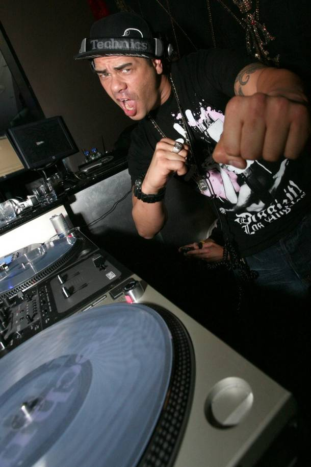 DJ Eric Cubeechee celebrates his birthday at Christian Audigier.