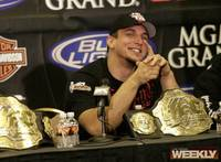 A victorious Frank Mir takes questions at the post-fight press conference.
