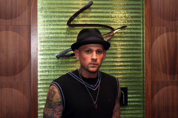 Benji Madden of Good Charlotte dined at Simon before spinning at Body English nightclub at the Hard Rock.