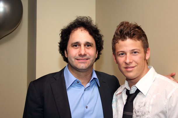 George Maloof and IndyCar driver Marco Andretti dined together in the back room of Simon restaurant on New Year's Eve.
