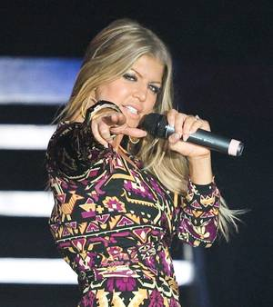 Fergie performs at The Venetian Ballroom on Dec. 31, 2008.