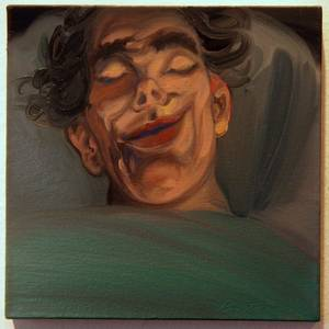 """Wet Dream"" (oil on wood) from Jeff Britton's <em>Guilty Pleasures</em> exhibit at Trifecta Gallery."