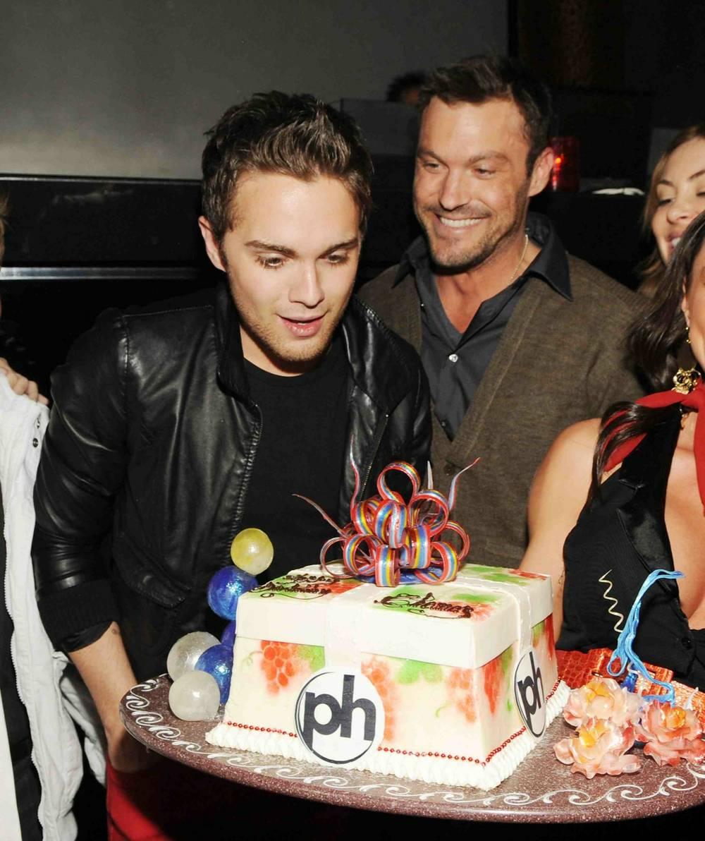 Thomas Dekker Celebrates His 21st Birthday At Prive In Planet Hollywood
