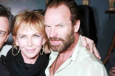 Trudie Styler and Sting at Tao Lounge at Sundance in 2009.