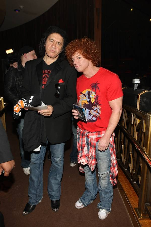 Gene Simmons and Carrot Top.