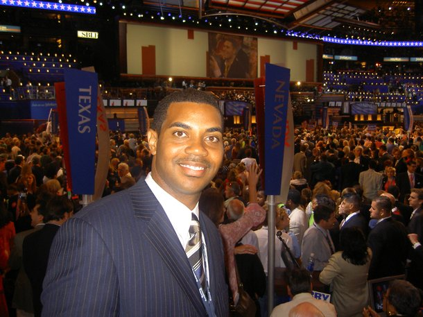 Horsford as a Nevada DNC delegate in Boston in 2004.