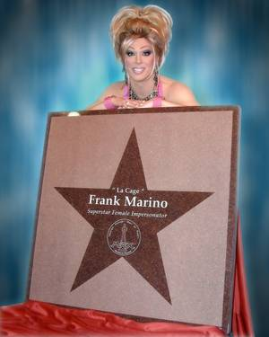 Frank Marino with his Las Vegas Walk of Fame star.
