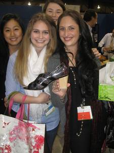 Fashion Institute of Design & Merchandising students, including Ariana Potter, far right.
