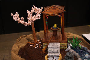 Cristina Beltran's bronze award-winning cake modeled after a Zen garden. The judges' critique included that the cake would be difficult to cut and serve.